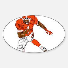 FOOTBALL *29* {orange} Sticker (Oval)