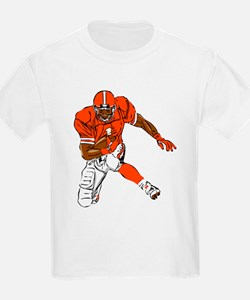 FOOTBALL *29* {orange} T-Shirt