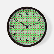 Player Buttons Wall Clock