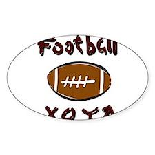 FOOTBALL *33* {crimson} Decal