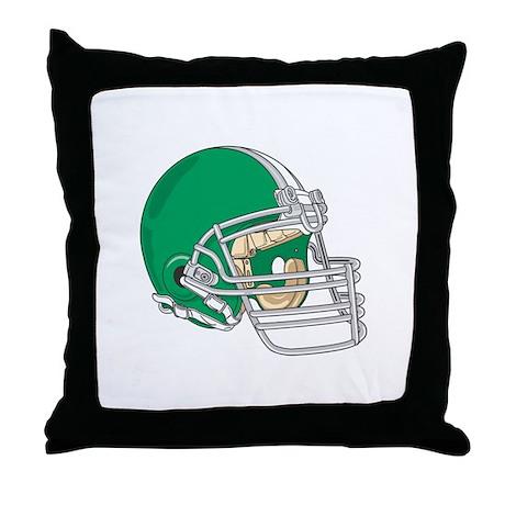 HELMET *4* {green} Throw Pillow