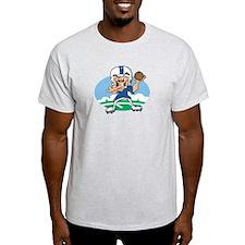FOOTBALL *34* {blue} T-Shirt