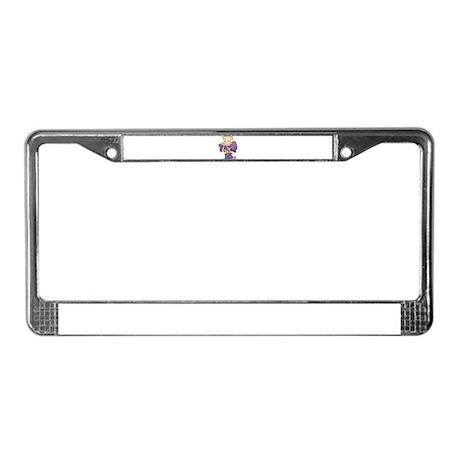 FOOTBALL *35* {purple/yellow} License Plate Frame