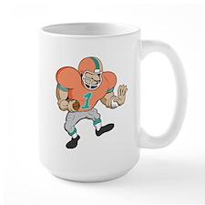 FOOTBALL *42* {orange/teal} Mug