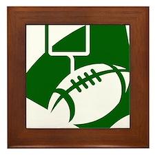 FOOTBALL *43* {green} Framed Tile