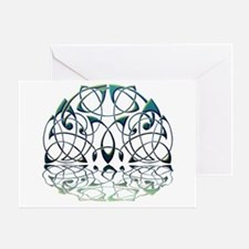 Celtic Moon Reflection Greeting Card