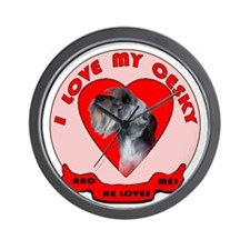 Cesky terrier Love Wall Clock