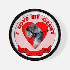Cesky terrier Love Wall Clock