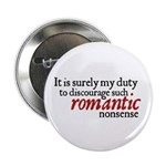 Jane Austen Romantic Nonsense Button