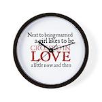 Jane Austen Crossed in Love Wall Clock