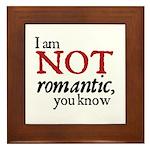 Jane Austen Not Romantic Framed Tile