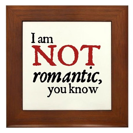 Jane Austen Not Romantic Framed Tile