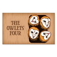 Design 3: The Owlets Sticker (Rectangle)