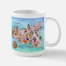 Sicilian Map Small Mugs