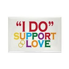 I Do Support Gay Marriage Rectangle Magnet (100 pa