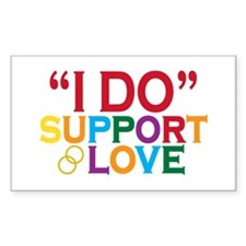 I Do Support Gay Marriage Decal