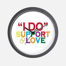 I Do Support Gay Marriage Wall Clock