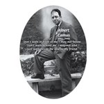 Albert Camus Philosophy Quote Oval Ornament