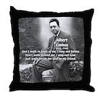 Albert Camus Philosophy Quote Throw Pillow