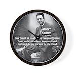 Albert Camus Philosophy Quote Wall Clock