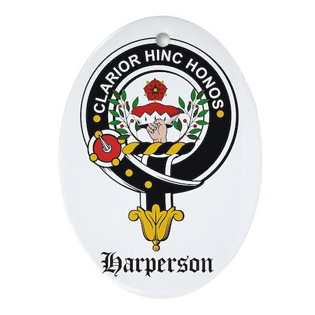 Harperson Clan Crest Badge Oval Ornament