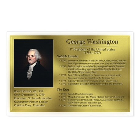 01: George Washington Postcards (8 Pack)