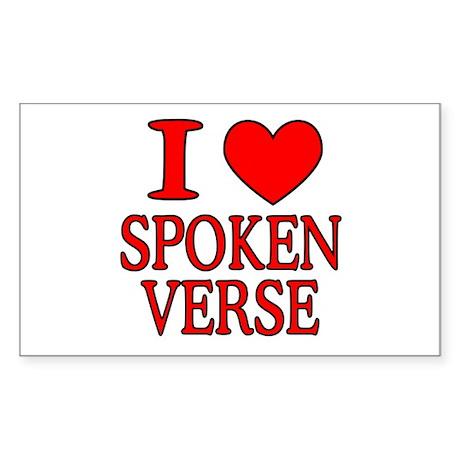 Poetry Rectangle Sticker 10 pk)