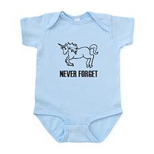 Never Forget Unicorns Infant Bodysuit