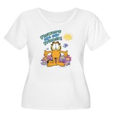 Flowers Are O Women's Scoop Neck Plus Size T-S