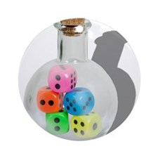 Bottle of Chance Ornament (Round)