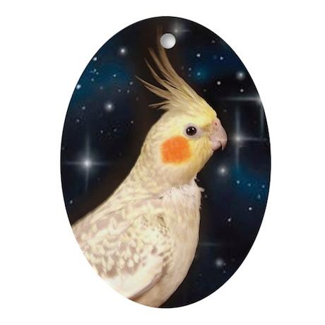 Cockatiel Ornament (Oval)