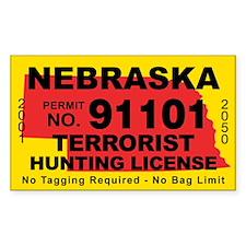 Nebraska Terrorist Hunting License Decal
