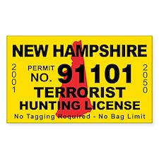 New Hampshire Terrorist Hunting License Decal