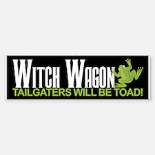Witch Wagon Bumper Bumper Bumper Sticker