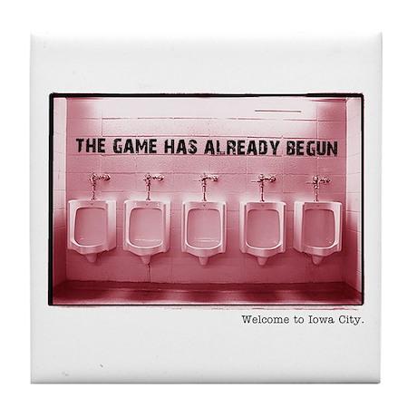 Kinnick Pink Tile Coaster