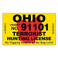 Ohio Terrorist Hunting License Decal