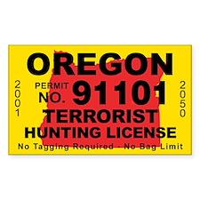 Oregon Terrorist Hunting License Decal