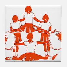 CHEER *1* {orange} Tile Coaster