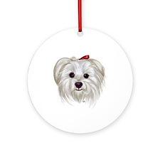 Maltese Ornament (Round)
