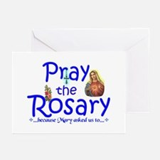 Pray the Rosary - Greeting Cards (Pack of 20) (d)