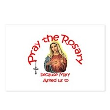 Pray the Rosary - POSTCARDS (Package of 8) (e)