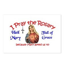 Pray the Rosary - POSTCARDS (Package of 8) (d)