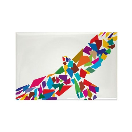 Bird in Flight Rectangle Magnet (10 pack)