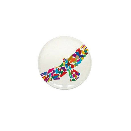 Bird in Flight Mini Button (100 pack)