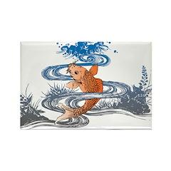 Koi Pond Rectangle Magnet (10 pack)