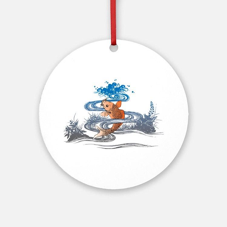 Koi Pond Ornament (Round)
