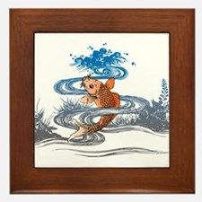 Koi Pond Framed Tile