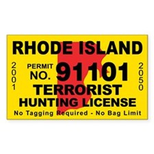 Rhode Island Terrorist Hunting License Decal