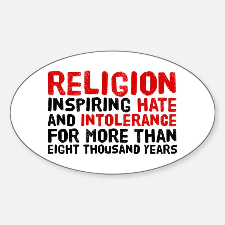 Death by Religion Sticker (Oval)