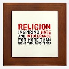 Death by Religion Framed Tile